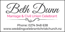 Beth Wedding Celebrant Christchurch